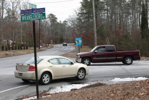 Galloway Roads: Traffic flows through the intersection of Moss Mill and Wrangleboro roads in Galloway Township. There have been two fatal accidents on Moss Mill Road within the past three months. Wrangleboro Road has seen 45 accidents in 2013 and '14. - Michael Ein