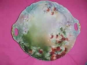 Antiques & Collectibles: Limoges porcelain plate probably decorated in U.S.