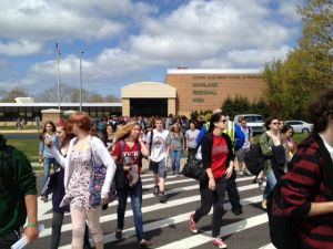 chemical spill at Mainland Regional High School