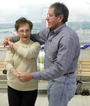 Ballroom dance class meets twice each week at Seashore Gardens