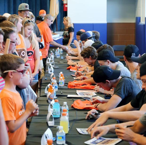 Flyers prospects enjoy chance to meet fans at Trial on the Isle