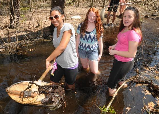Cedar Creek students don't shy away from getting their feet wet for class