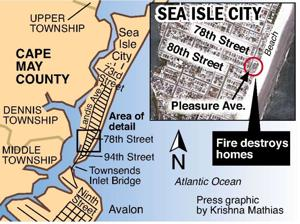 FIRE DESTROYS 3 SEA ISLE CON DOS