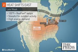 Another heat wave is on the way later this week