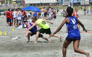 Wildwoods Beach Frisbee: Saturday July 27 2013 Wildwoods Beach Frisbee Tournament on the beach at Poplar Avenue. (The Press of Atlantic City / Ben Fogletto) - Ben Fogletto