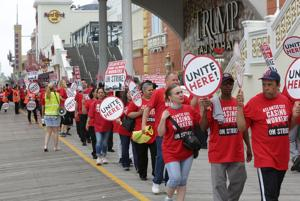 Casino workers strike Trump Taj Mahal