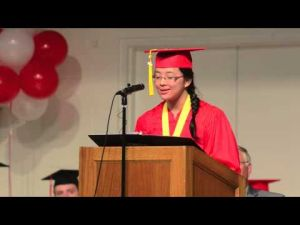 Eliana Yu -- Pilgrim Academy Valedictorian