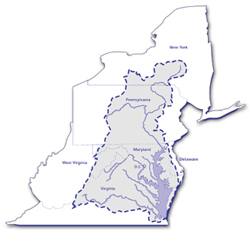 Map of the Chesapeake Bay Watershed - Chesapeake Bay Program
