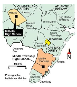 Woodbine map