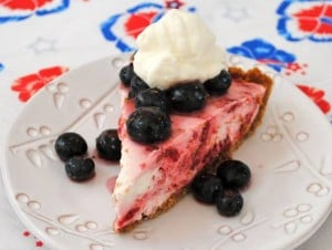 Fourth of July dessert pie