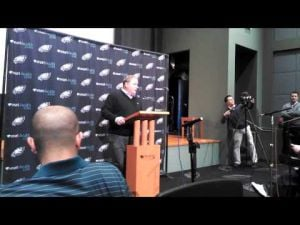 Chip Kelly talks about the Eagles signing Michael Vick