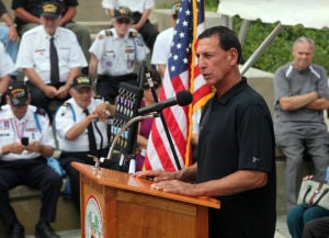 KOREAN WAR VETS: Congressman Frank LoBiondo, speaks during the Commemorative Ceremony, hosted by the New Jersey Korean War Veterans Association, at the Korean War Memorial at Brighton Park, in Atlantic City, NJ, Friday July 26, 2013. - Vernon Ogrodnek