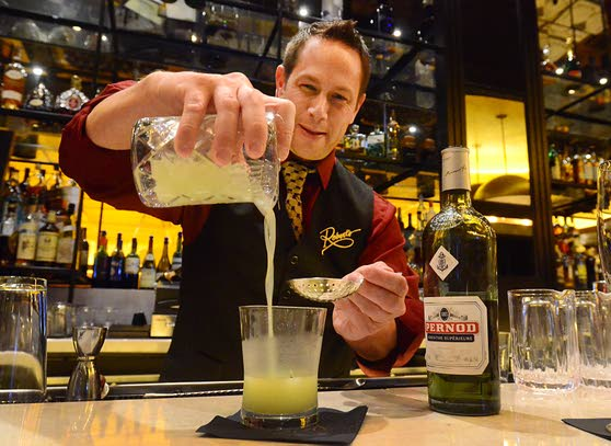 Going green in Atlantic CitySteakhouse serves up a menu of absinthe cocktails