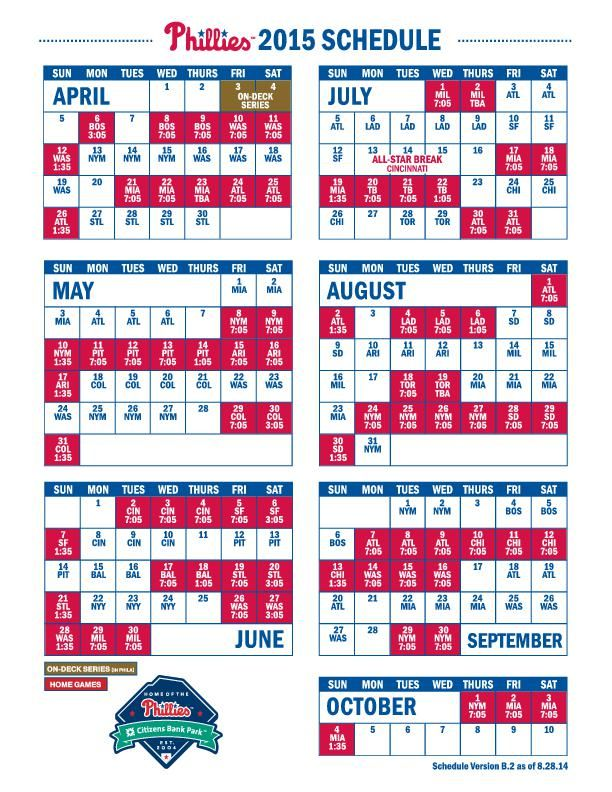 phillies 2015 schedule - Press of Atlantic City: Southern ...