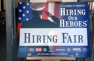 Vet Job Fair: A job fair, at the Ocean City Music Pier, especially geared to military veterans, who experience a much higher unemployment rate than the general working population. It's the latest of several initiatives to help veterans re-enter the workforce. Thursday, October, 11, 2012, 2012 ( Press of Atlantic City/ Danny Drake)