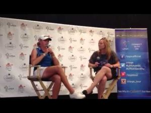 Stacy Lewis interview after Day 1 ShopRite LPGA Classic
