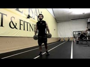 Your Workout: Dumbbell Wrestler's lunge