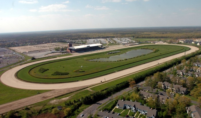 race course aerial