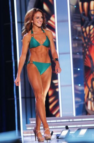 Miss America 2 PRELIMS: Miss Connecticut Kaitlyn Tarpey contestant walks the runway during swimsuit portion of the preliminary second round of the Miss America pageant at Boardwalk Hall in Atlantic City, New Jersey, September 11 2013 - Photo by Edward Lea