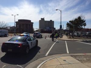 Reptured gas line closes down intersection of Albany and Ventnor avenues in Atlantic City
