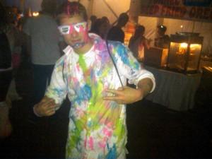 Rave - Foles: Brandon Foles of Brick Township celebrates the new year.  - JOEL LANDAU