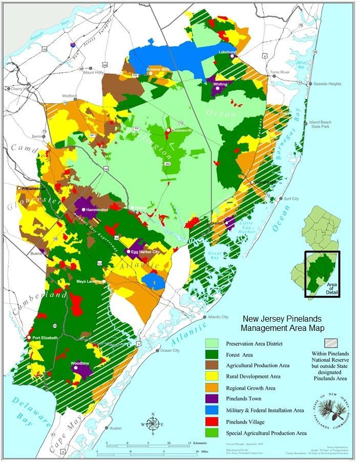 Map Credit NJ Pinelands Commission