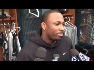 LeSean McCoy talks to media about his return