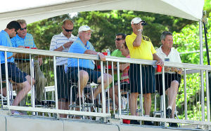 LPGA: Spectators watch 18th green action from the top of the grandstand. Friday May 31 2013 LPGA ShopRite Classic at Seaview Resort in Galloway. Day 1 (The Press of Atlantic City / Ben Fogletto)  - Ben Fogletto
