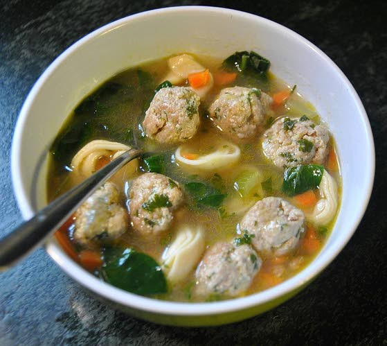 Try Meatball-Tortellini Soup for dinner tonight