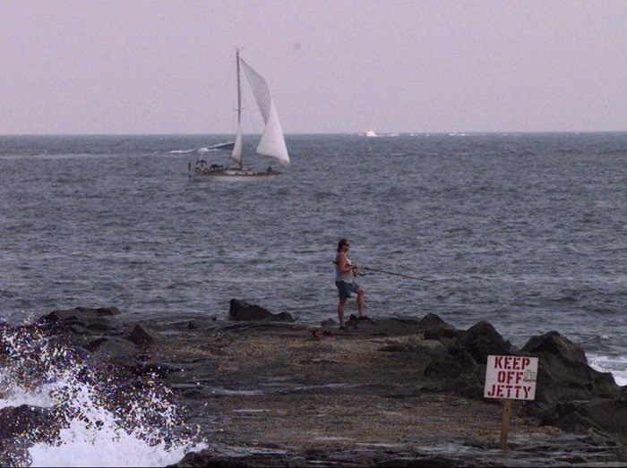 FISHING AND SAILING OFF BELMAR BEACH
