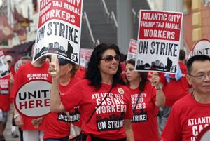Casino Workers Strike against Trump Taj Mahal