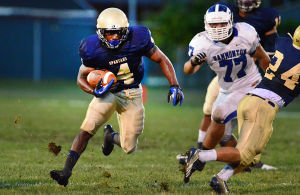 Holy Spirit Football: Friday September 13 2013 Hammonton at Holy Spirit high school football. (The Press of Atlantic City / Ben Fogletto) - Photo by Ben Fogletto
