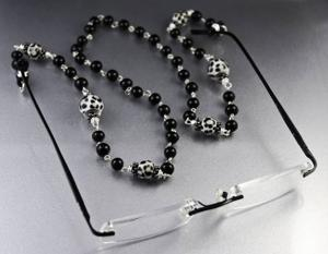 Making an eyeglass chain for Mom is an easy craft