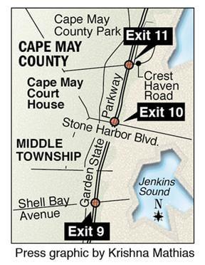 Parkway exits