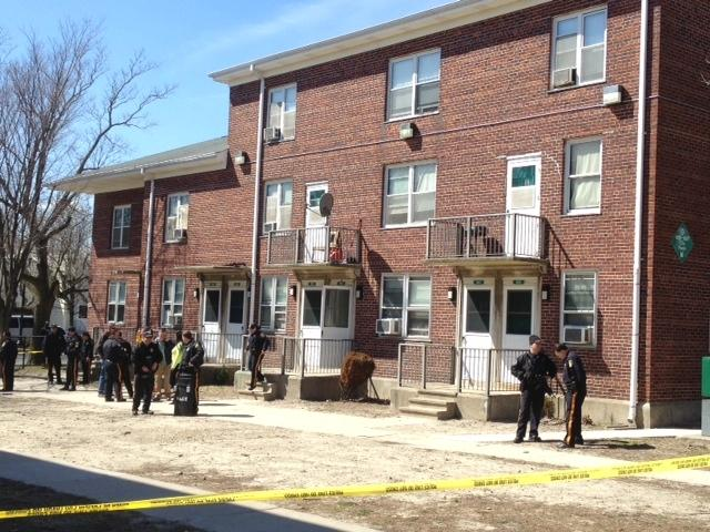 Police on scene of incident at Stanley Holmes Village
