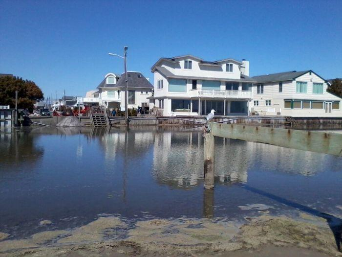 Flooding at a bulkhead in Margate