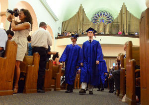 SACRED HEART GRADUATION: Class of 2013 graduation procession in the church. Monday June 3 2013 Sacred Heart High School Graduation. (The Press of Atlantic City / Ben Fogletto)  - Photo by Ben Fogletto