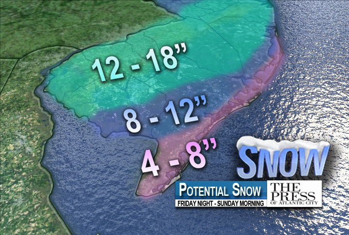 Potential snow accumulations: First call
