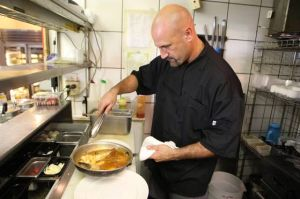 A Family Legacy: Chef Lou Macera prepares the Latz's family recipe for French bouillabaisse, with a modern twist, at Latz's in Somers Point.