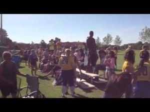 Fans cheer on the Buena Regional softball team