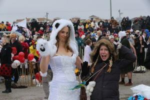 SEA ISLE POLAR PLUNGE: People take part in Sea Isle City's huge Polar Plunge. - Edward Lea