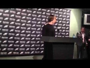 Nick Foles talks about Eagles' loss, Nov. 11, 2012
