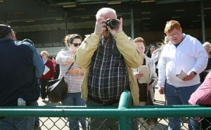 Day At The Races: Doug Stroz of EHT takes photos. Sunday April 27 2014 Live turf racing at the Atlantic City Racecourse in Mays Landing. (The Press of Atlantic City / Ben Fogletto) - Ben Fogletto