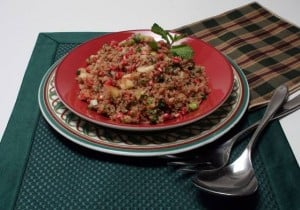 A pretty, healthy quinoa salad  to lighten your holiday table