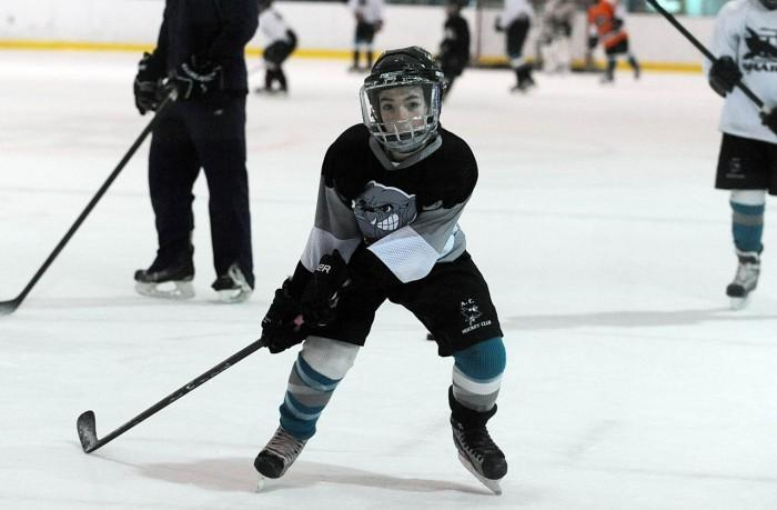 Gage Grist skating