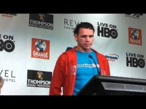 Daniel Geale postfight interview after Darren Barker fight