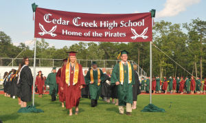 Cedar Creek Graduation: Image captured during Cedar Creek High School's Graduation ceremony held at Cedar Creek High School in Egg Harbor City Saturday, June 15, 2013. Photo/Dave Griffin  - John David Griffin