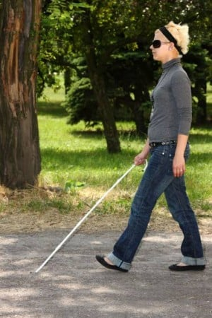 Robot technology helps blind 'see' surroundings