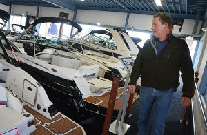 Boating Rebound: Al Mury of LEH in the showroom at C-Jam Yachts in Somers Point. Tuesday April 2 2013 (The Press of Atlantic City / Ben Fogletto)  - Photo by Ben Fogletto