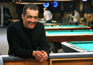 Q Ball: Q Ball Billiards owner Jose Garcia, of Vineland, says he likes to run his business on Landis Avenue like an 'old-school poolroom.'  - Photo by Michael Ein